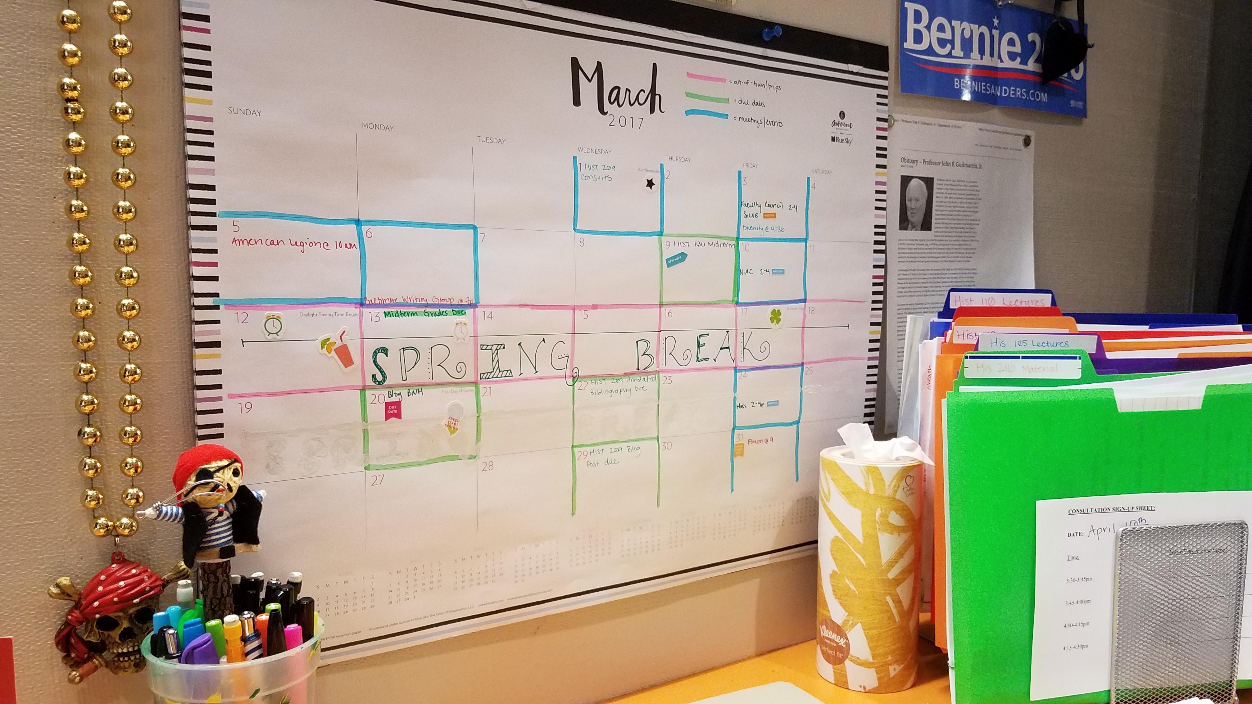 Wall Calendar Goals